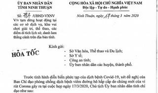 Ninh Thuận: Tạm dừng các dịch vụ tham quan, giải trí  phòng Covid-19