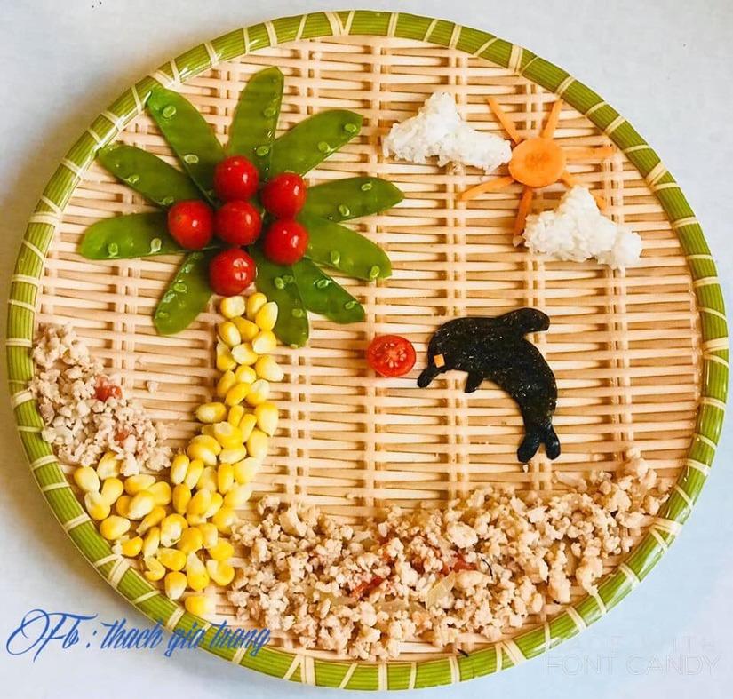 Mẹ trang trí món ăn siêu đẹp và đầy ý nghĩa khiến con mê mẩn4