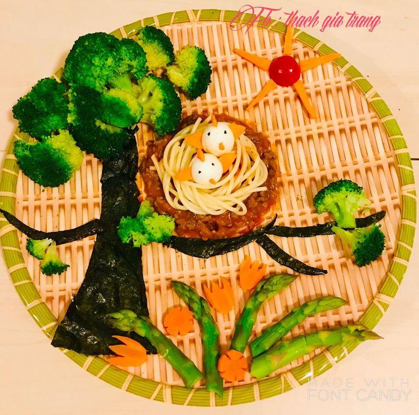 Mẹ trang trí món ăn siêu đẹp và đầy ý nghĩa khiến con mê mẩn2