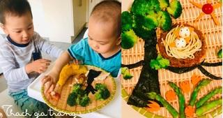 Mẹ trang trí món ăn siêu đẹp và đầy ý nghĩa khiến con mê mẩn