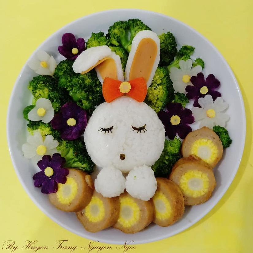Mẹ Việt ở Indonesia trang trí đĩa thức ăn đẹp giúp con mê tít14