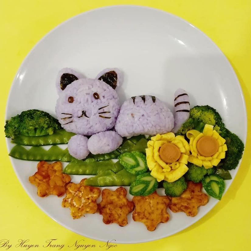 Mẹ Việt ở Indonesia trang trí đĩa thức ăn đẹp giúp con mê tít15