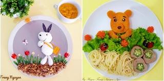 Mẹ Việt ở Indonesia trang trí đĩa thức ăn 'đẹp như tranh' giúp con mê tít rau củ