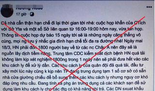 Bộ công an xử lý 2 trường hợp tung tin Hà Nội 'vỡ trận' chống dịch Covid-19