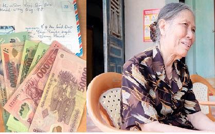 Cụ bà gần 80 tuổi đạp xe tới xã ủng hộ 1 triệu đồng chống Covid-19