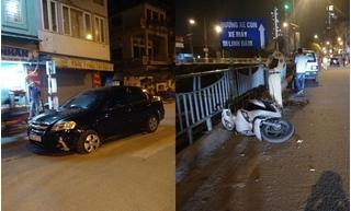 Say rượu gây tai nạn, tài xế bỏ chạy khi xe nổ lốp mới dừng lại