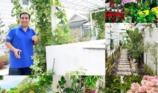 Bà xã MC Quyền Linh khoe khu vườn đầy hoa trái trong biệt thự triệu đô