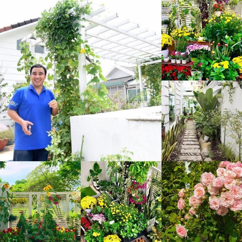 Bà xã MC Quyền Linh khoe vườn cây xanh tốt trong căn biệt thự 21 tỉ