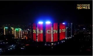Giữa Hà Nội vắng lặng vì dịch Covid 19, hàng loạt các dự án của Sunshine Homes rực sáng suốt đêm