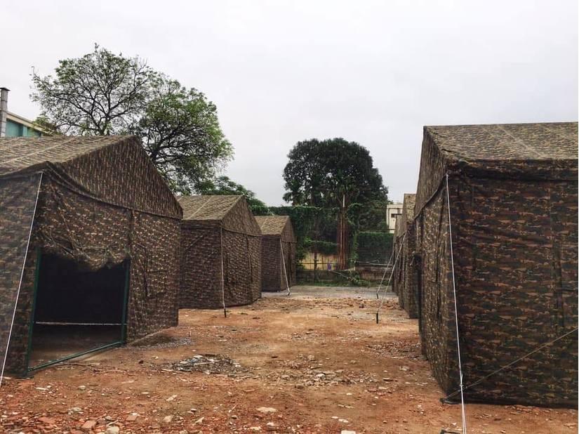 Bệnh viện Bạch Mai xây dựng bệnh viện dã chiến ngay trong khuôn viên bệnh viện 2