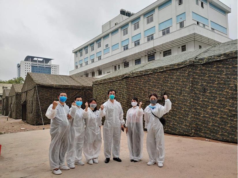 Bệnh viện Bạch Mai xây dựng bệnh viện dã chiến ngay trong khuôn viên bệnh viện