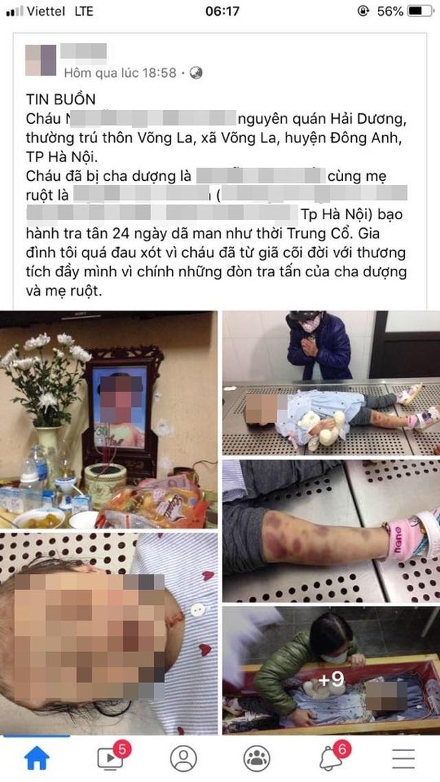 Nghi án bé gái 3 tuổi bị cha dượng và mẹ đẻ bạo hành đến tử vong