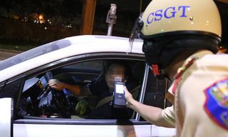 Thầy giáo bị phạt gần 40 triệu đồng vì uống rượu, lái xe trái đường