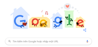 "Google Doodle hôm nay 3/4: ""Stay Home. Save lives. Help stop coronavirus"""