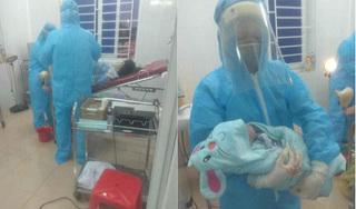 Sản phụ sinh bé trai ngay trong phòng cách ly tại Nghệ An