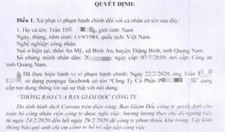 Người đàn ông Quảng Nam khiến cả công ty nghỉ làm vì tung tin sai sự thật
