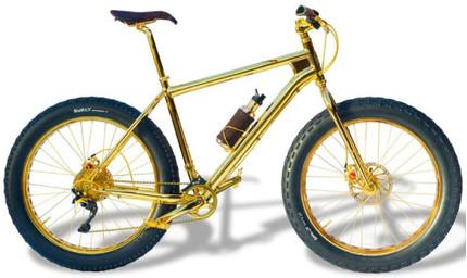 Lóa mắt xe đạp leo núi bằng vàng giá 1 triệu đô, nạm 600 hạt kim cương