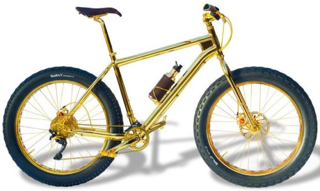 Lóa mắt xe đạp leo núi bằng vàng giá 1 triệu đô, nạm 600 hạt kim cương2