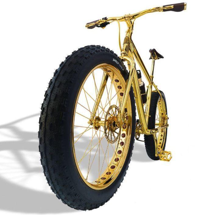Lóa mắt xe đạp leo núi bằng vàng giá 1 triệu đô, nạm 600 hạt kim cương5