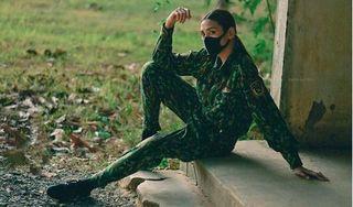 Võ Hoàng Yến tung bộ ảnh hóa nữ quân nhân xinh đẹp khi ở khu cách ly