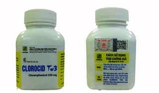 Thu hồi lô thuốc viên nén Clorocid TW3 đóng gói dạng lọ