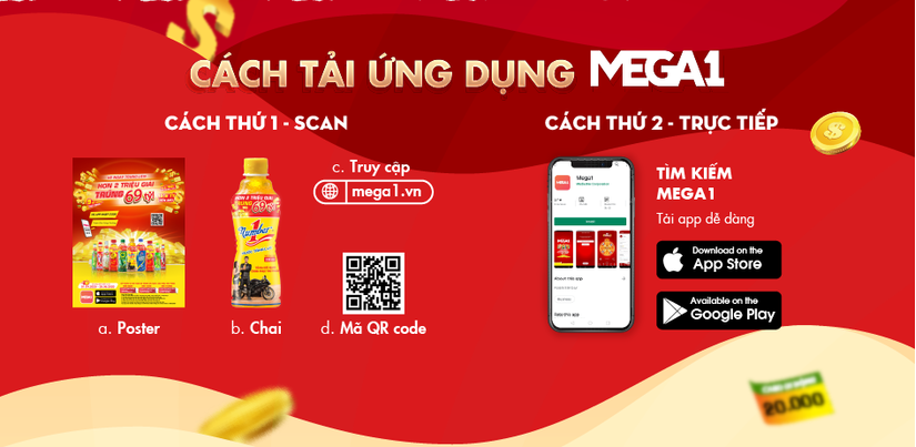 Chương trình khuyến mãi dễ chơi dễ trúng lớn chưa từng có qua ứng dụng mới toanh Mega1
