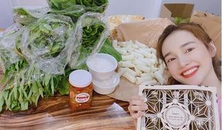 Ở nhà tránh dịch, Nhã Phương khoe được 'tiếp tế' đồ ăn ngập tràn