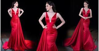 5 nàng Hoa hậu hóa nữ hoàng sắc đẹp, chinh phục sàn diễn bằng sắc đỏ quyền lực