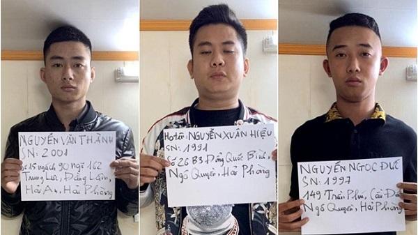 Tạm giữ 3 'quái xế' Hải Phòng đua xe gây náo loạn trong đêm