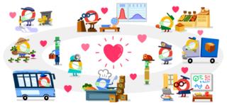Google Doodle hôm nay 14/4: Cảm ơn những anh hùng chống Covid-19