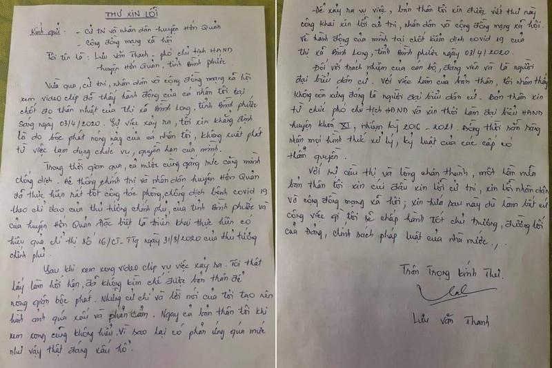 Phó Chủ tịch HĐND huyện chống đối tổ kiểm dịch viết tâm thư xin từ chức
