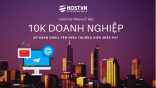 HostVN miễn phí dịch vụ email tên miền cho 10.000 doanh nghiệp