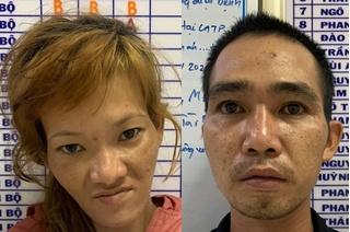 Cặp đôi nghiện ma túy dí dao cướp xe tài xế công nghệ