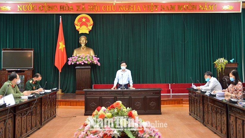 Nam Định gấp rút rà soát việc mua sắm thiết bị phòng chống dịch