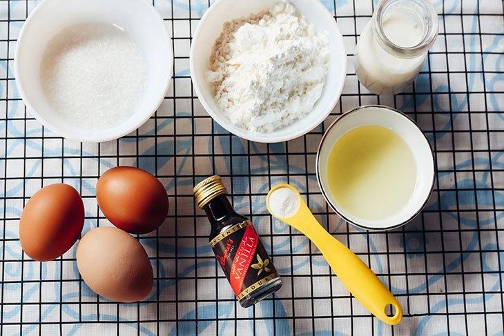 Nguyên kiệu đơn giản nhất để thực hiện món bánh bông lan hấp