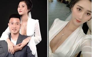 Hot girl Hải Phòng khoe vòng 1 nóng bỏng bên tiền vệ Huy Hùng