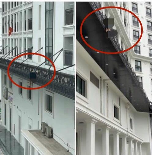 Phát hiện thi thể người đàn ông trên lan can chung cư ở Hà Nội