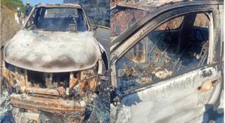 Đã xác định được chủ nhân xe bán tải cháy trơ khung bên trong có thi thể biến dạng