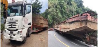 Vụ xe đầu kéo chở sà lan gây ách tắc đèo Bảo Lộc: phạt 90 triệu đồng