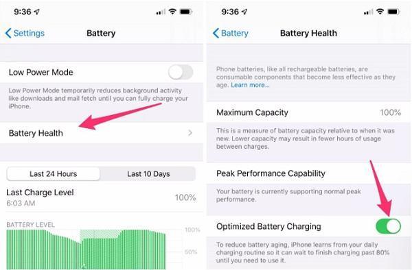 Sạc Pin an toàn trên iPhone và iPad