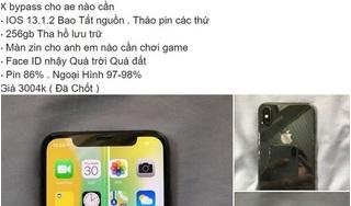 Cảnh giác iPhone X siêu rẻ khóa tính năng gọi, nhắn tin