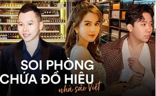 Choáng trước phòng đồ hiệu xa xỉ của sao Việt