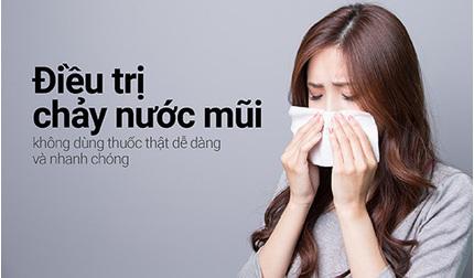 Điều trị chảy nước mũi không dùng thuốc thật dễ dàng và nhanh chóng