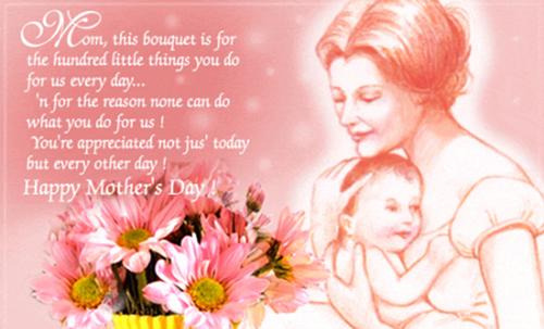 - Mẹ ơi! Con yêu mẹ vì cả cuộc đời này mẹ đã cho đi mà không cần nhận lại bất cứ điều gì.