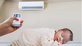Trời nắng nóng, mẹ sử dụng điều hòa như thế nào để con không bị ốm?