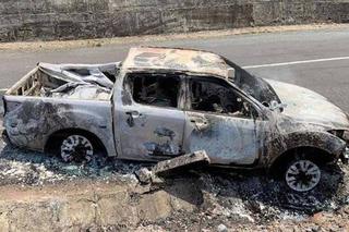 Vụ xe bán tải cháy rụi bên trong chứa thi thể: Chủ xe vẫn sống và đã bị bắt