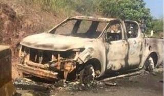 Đã xác định được danh tính thi thể trong xe bán tải cháy rụi của bí thư xã