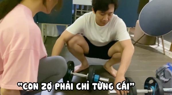 Tập gym tại nhà, Trấn Thành bị Hari Won mắng 'không kịp vuốt mặt'