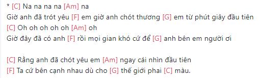 Hợp âm bài hát Chàng và nàng 3