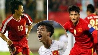 Thống kê số bàn thắng của 4 tiền đạo hàng đầu của bóng đá Việt Nam